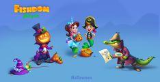 ArtStation - Fisdom game art, Lorian_ de_Villia Mobile Game, Game Art, Halloween, Games, Artwork, Movie Posters, Animals, Plays, Animales