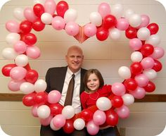 Photo Booth Idea {party} Last night was the Daddy Daughter Date for the Activity Day Girls (think boy scouts for girls). I was in charge of creating a little… Valentines Photo Booth, Valentines Balloons, Valentines Day Party, Valentines Day Decorations, School Dance Decorations, Valentine Nails, Heart Decorations, Valentine Ideas, Reception Decorations