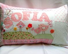 Sweet litle personalized pillow!