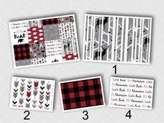 Woodsman Crib Set by AHouseDivided on Etsy