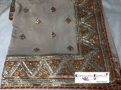 Traditional style Gota Saree, super classic and elegant!