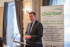 Graham Brady MP speaking at the New Year lunch held by the Altrincham and Sale Chamber of Commerce | Martin Hambleton commercial photographer