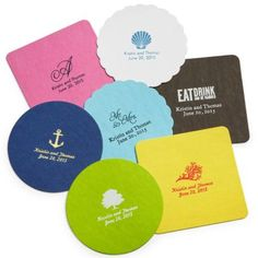 Love these Coasters!  Hot Pink and Blue are my fav color choices!!