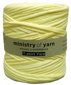 Light Bright Yellow Speckled recycled t-shirt yarn Australia