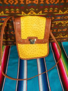 OSTRICH-QUILL-Mustard-Brown-Faux-Leather-WOMENS-WESTERN-SHOULDER-BAG-Purse