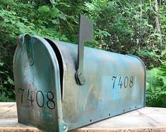 Check out our patina selection for the very best in unique or custom, handmade pieces from our shops. Copper Mailbox, Painted Mailboxes, Aged Copper, Card Box Wedding, House Numbers, Steel Metal, Creative Words, Rustic Christmas, Montage