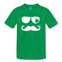 $18.00 per t-shirt; infant, toddler and youth sizes! Call for available colors. #personalized #custom #kids #baby #toddler #youth #tshirts #apparel #mustache #clover