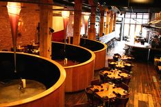 Commercial Restaurant Interior Design of Vesta Dipping Grill, Denver