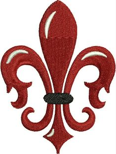 Red Fleur de Lis Embroidery Design, French, Machine Embroidery Design May 09, 2014 at 06:20AM