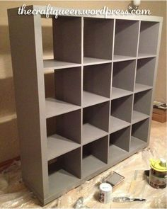 Hey, remember back in September when I showed you a sneak peek of the IKEA Expedit shelving system makeover?  It's FINALLY finished! To refresh your memory, this is what I started with: Now, I am h...