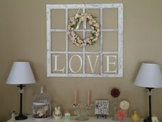 old window frames craft ideas - Google Search