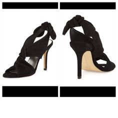 """🌟CCO🌟 TRINA TURK LARKSPUR BLK SUEDE HEELS 7-NWOT Larkspur Twisted Suede Slingback Sandal New without tags, never worn Black Suede sandal 3.5"""" covered heel Open toe Twisted vamp Bow on slingback strap Slip-on style Padded footbed Leather lining and sole. Larkspur is made in Brazil Trina Turk Shoes Heels"""