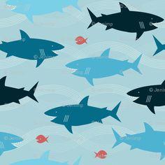 Sharks as a block print?