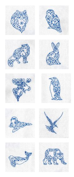 Arctic Animals Embroidery Machine Design Details
