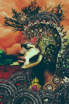 Intricate Photo Collage Portraits Inspired by the 'Jua Kali' Workers of Nairobi, Kenya