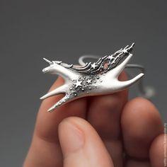 Купить Звёздный Единорог - кулон из серебра со звёздами - единорог, кулон единорог, подвеска единорог