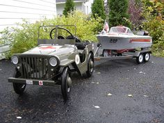 Love this custom Jeep pedal car and boat