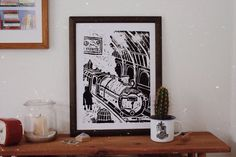 These art prints are the closest us mere muggles will ever get to platform 9 and three quarters