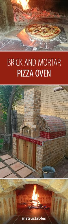 Always wanted an outdoor kitchen? Build a brick and mortar pizza oven for your backyard! #summer #pizza #outdoors #backyard #outdoorkitchen