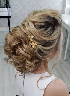 Beautiful and elegant bridal hairstyle ideas #weddinghair #updo #weddingupdo #eleganthair #weddinghairstyle #hairideas