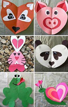 Необычные аппликации из сердечек / Дети - это счастье!