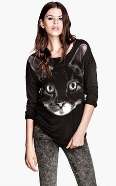 Kitty Prints Casual Sweatshirts-$13.90 FREE SHIPPING