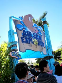 Nickelodeon Land Sea World Theme Park Signature Marquee Air Sea Explorer