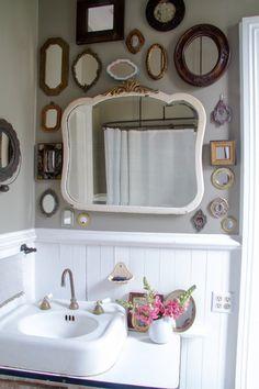 Bathroom mirrors vintage bathroom mirrors uk with retro bathroom. Vintage Bathroom Mirrors, Bathroom Mirror Design, Small Bathroom, Antique Mirrors, Bathroom Ideas, Bathroom Trends, Funky Mirrors, Bathroom Organization, Master Bathrooms