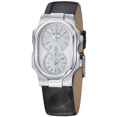 Philip Stein Women's 1-Cmop-LB Dual Timezone Dial Watch