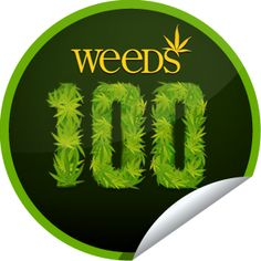 Weeds: 100th Episode...Check-in to Weeds' 100th episode for this exclusive sticker!