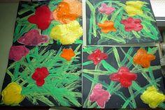 Tapa de flors a l'estil Andy Warhol