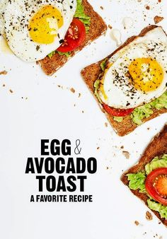 Egg  Avocado Toast. My favorite Recipe for Breackfast!