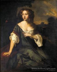 sir peter lely | Portrait of Lucy Brydges oil painting, Sir Peter Lely oil paintings