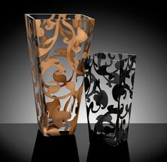 Tuscan Vine Glass Vases by Rabbit Canyon Designs |  Home Decorative Accents