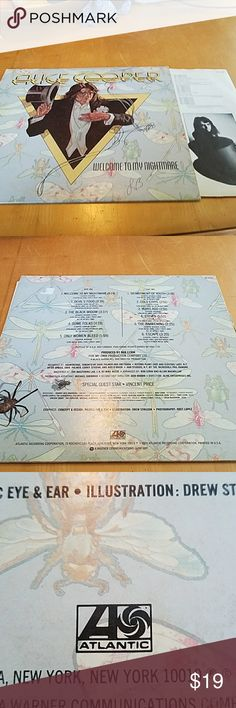 Alice Cooper Vinyl Album- Welcome To My Nightmare Gently worn cover but vinyl inside is in excellent condition.  Great for any music lover! Atlantic Records Other