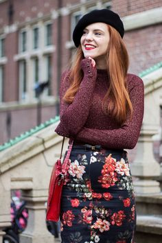 Fashion Blogger Retri Colorful Outfit with Beret