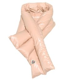 Pink down scarf