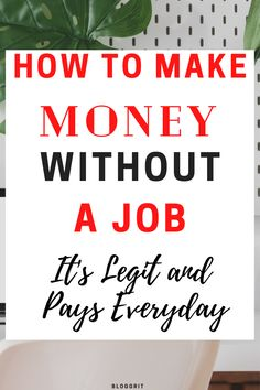 Make Money From Home Without a Job. If you are wondering How to Make Money From Home, but finding it hard to find a job, then this post is for you! There are Easy Ways to Make Money From Home and I've explores some legit ideas to make money from home. These Ways to make money from home are great online earning for you. There are also some creative ways to make money from home. And if you are a stay at home mom, then this is perfect! Click to read the post, and start earning right away! Legit Work From Home, Online Work From Home, Work From Home Jobs, Make Money From Home, Way To Make Money, Make Money Online, Extra Money Jobs, Extra Cash, Online Jobs