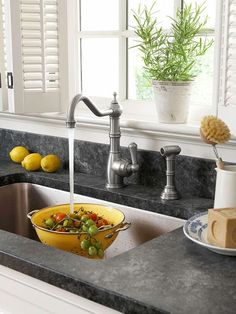 Focus on Fixtures   Vintage-style fixtures such as farmhouse sinks or faucets with Old World style complete any cottage kitchen. For an easy update, look for a new cottage-style faucet that fits the configuration of your existing faucet. That way, you can install a new faucet without having to reconfigure your plumbing.