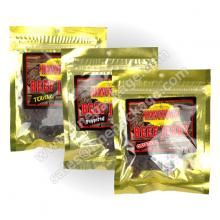 UK peppered beef jerky plastic packgiang bags, stand up  bags with zipper with Euro slot and tear notch