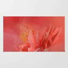 Salmon Hibiscus 3 - Floral Area & Throw Rug by Jai Johnson - $28.00 Floral Rug, Throw Rugs, Hibiscus, Salmon, Tapestry, Painting, Home Decor, Art, Tapestries