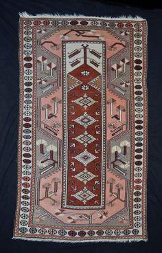 alter Orientteppich türk. Milas Melas 168x98 old anatol rug tappeto tapis