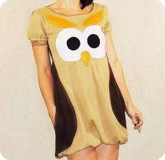OWL DRESS  Made to Order by repurposefulPUNK on Etsy