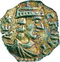 Canute V of Denmark (1129 - 1157). King of Denmark from 1146 until his death in 1157. He was one of two king of Denmark at the time, due to civil wars and rebellions. He was married to Helena of Sweden but had no children with her. He was killed in battle in 1157.