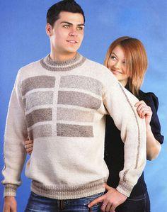 пуловер с прямоугольниками
