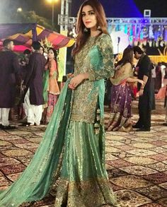 Last night at friends mehndi Pakistani Wedding Outfits, Pakistani Bridal Dresses, Pakistani Wedding Dresses, Pakistani Dress Design, Indian Dresses, Indian Suits, Dulhan Dress, Desi Clothes, Dress Collection