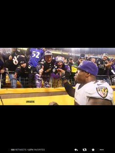 Yes, those are happy Ravens fans in Pittsburgh. Haha!