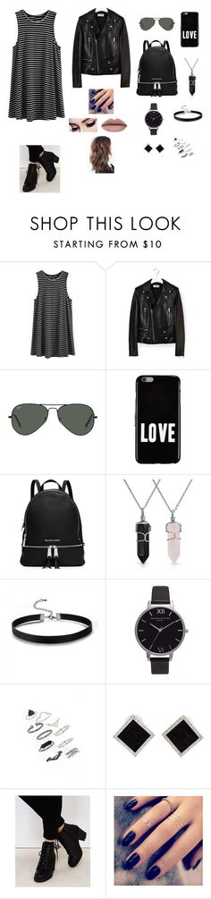 """Untitled #196"" by warrior98 ❤ liked on Polyvore featuring Yves Saint Laurent, Ray-Ban, Givenchy, MICHAEL Michael Kors, Bling Jewelry, Olivia Burton, Topshop, Yvel, Wet Seal and Lottie"