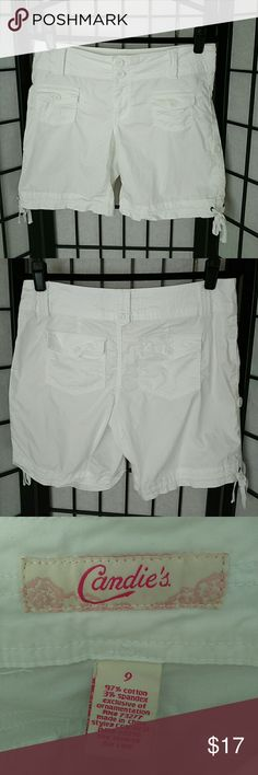 Cute Cargo Shorts with Pockets & Ties EUC! Enjoy!  Measurements coming!...  Plz ask Q's ~ I love happy buyers! :) Candie's Shorts Cargos