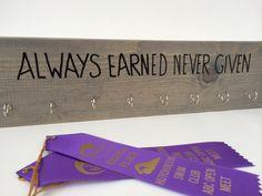 Award Holder wtih hooks for ribbons on Etsy, $21.99